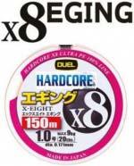 Шнур Duel Hardcore X8 Eging 150m #1.2 трехцветный 12.0Kg (0.191mm) (H3306)