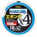 Шнур Duel Hardcore X4 Eging 150m #1.2 трехцветный 9.0Kg (0.191mm) (H3287)