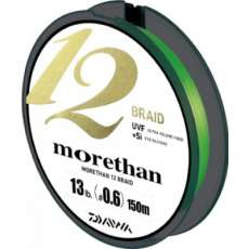 Шнур плетеный Daiwa morethan 12 braid 1 (0,17мм)