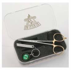 "Набор ножницы кусачки для лески Airflo Nipper/Reel + 5 1/2"" Gold Scissor Clamp In Fly Box"