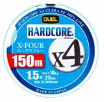 Шнур Dual Hardcore X4 200m #1.5 пятицветный 10.0Kg (0.209mm) (H3249)