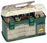Ящик Plano с 3-мя выдвижными полками 1 коробка, крышка с отсеком для хранения аксессуаров